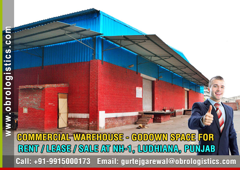 Warehouse on rent lease hire a godown in Ludhiana Punjab India