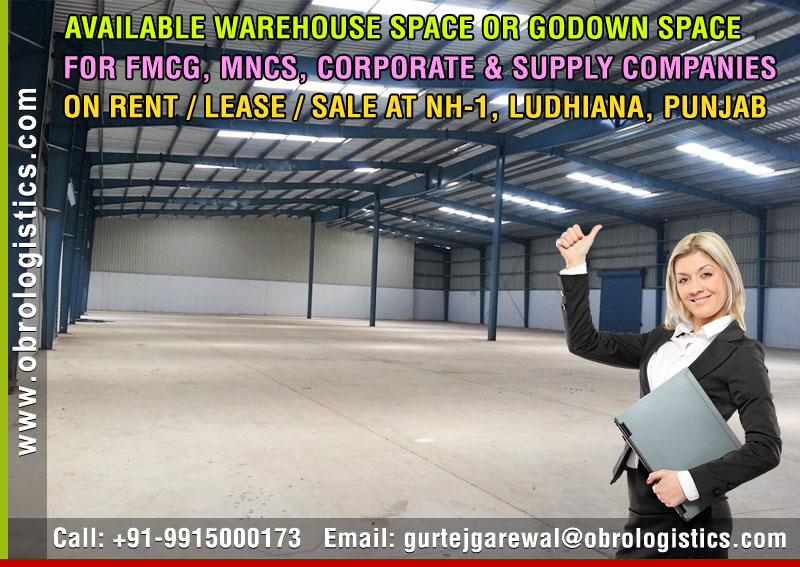 Goods Storage Warehouse on rent lease hire a Godown in Ludhiana Punjab India