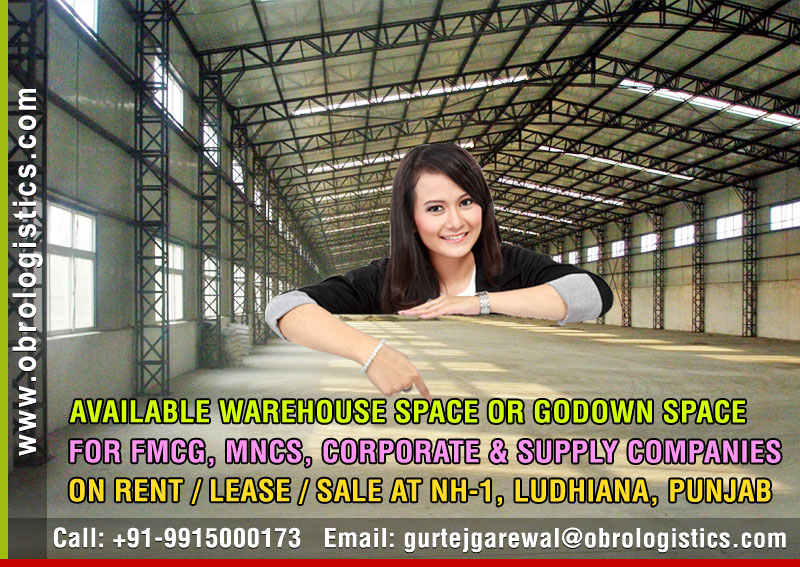 Hire a Warehouse on rent lease hire a Godown in Ludhiana Punjab India