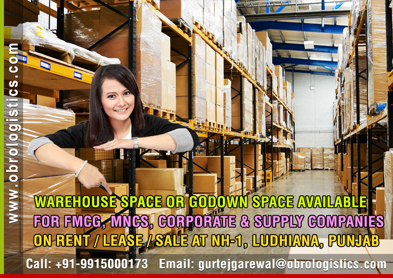 Hire a Godown on rent lease hire a Warehouse in Ludhiana Punjab India