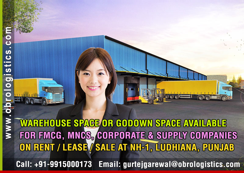 Warehouse space on rent lease hire a godown space in Ludhiana Punjab India