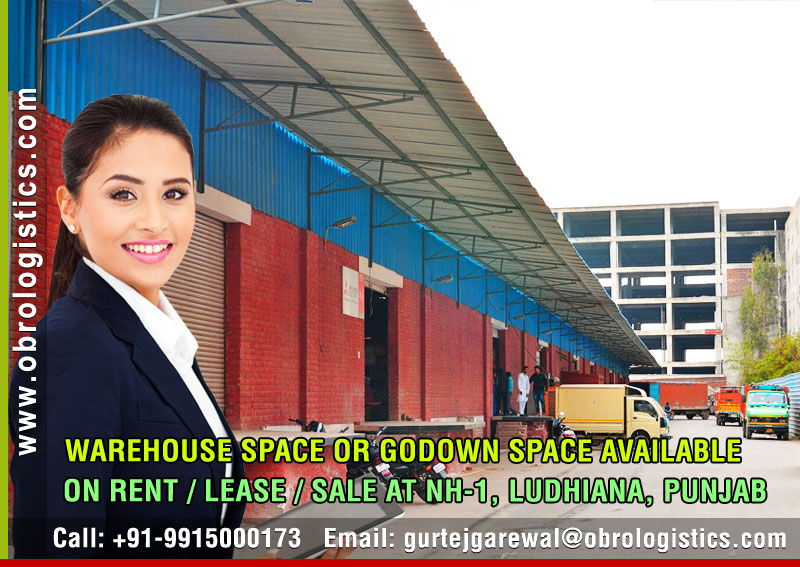 Godown space on rent lease hire a warehouse space in Ludhiana Punjab India