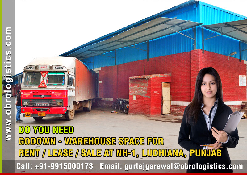 Godown on rent lease hire a warehouse in Ludhiana Punjab India