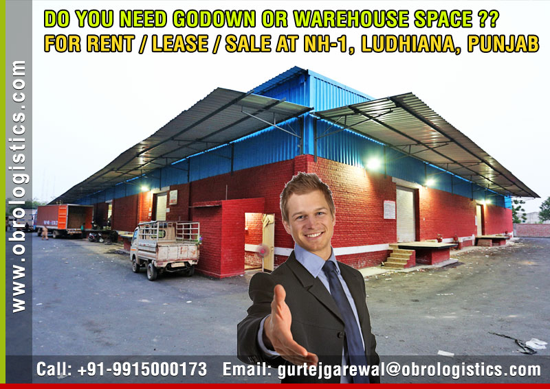 Commercial Warehouse on rent lease hire a godown in Ludhiana Punjab India