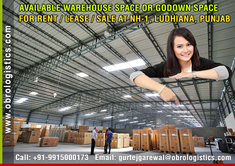 Commercial Godown on rent lease hire a Warehouse in Ludhiana Punjab India
