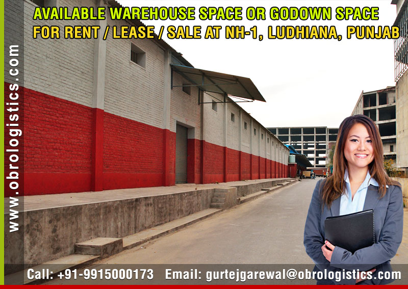 Goods Storage Godown on rent lease hire a Warehouse in Ludhiana Punjab India